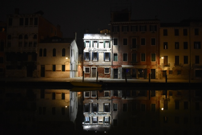 Canareggio hotel at night