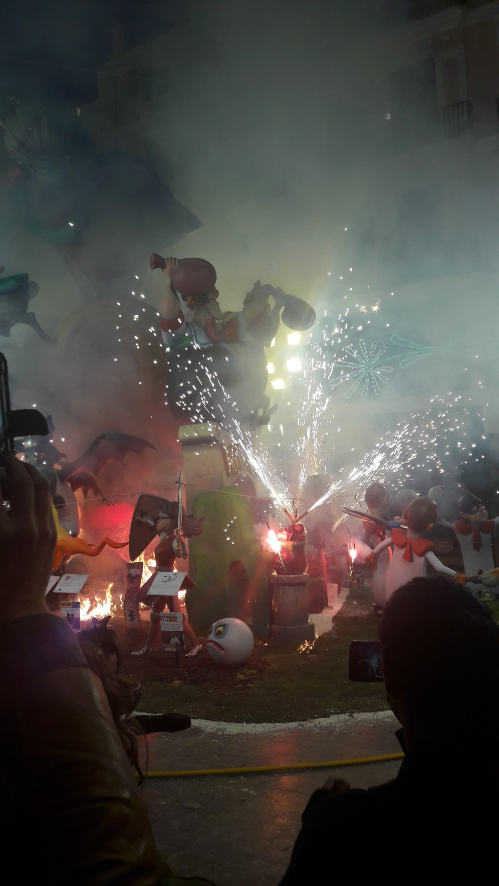 The fireworks start