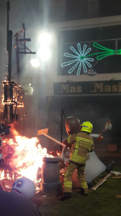 I'm sure the firemen are meant to stop the blaze, not help it burn?